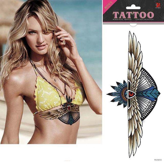 Ys X013 Neue Ankunft Wasserdichte Flügel Unter Brust Tattoo Sexy