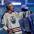 Marca Justin Bieber Propósito superior hombres de gran tamaño de alta calidad a largo manga de la camiseta de los hombres de hip hop homme bieber 6 impresión t camisa