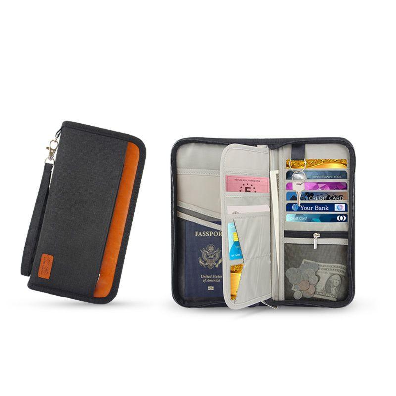 RüCksichtsvoll Unisex Rfid Sperrung Reisetasche Geldbörse Organizer Reißverschluss Passport Tickets Id Halter Multi Funktion Im Freien Karte Tasche Card & Id Halter