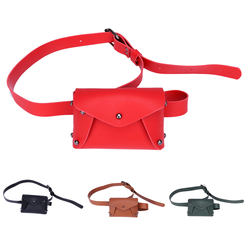 Cute Children Mini Girl Waist Bag Rivet Fashion Fanny Shoulder Pack Coin Purse Bag Woman Shoulder Chest Bags Small Messenger Bag