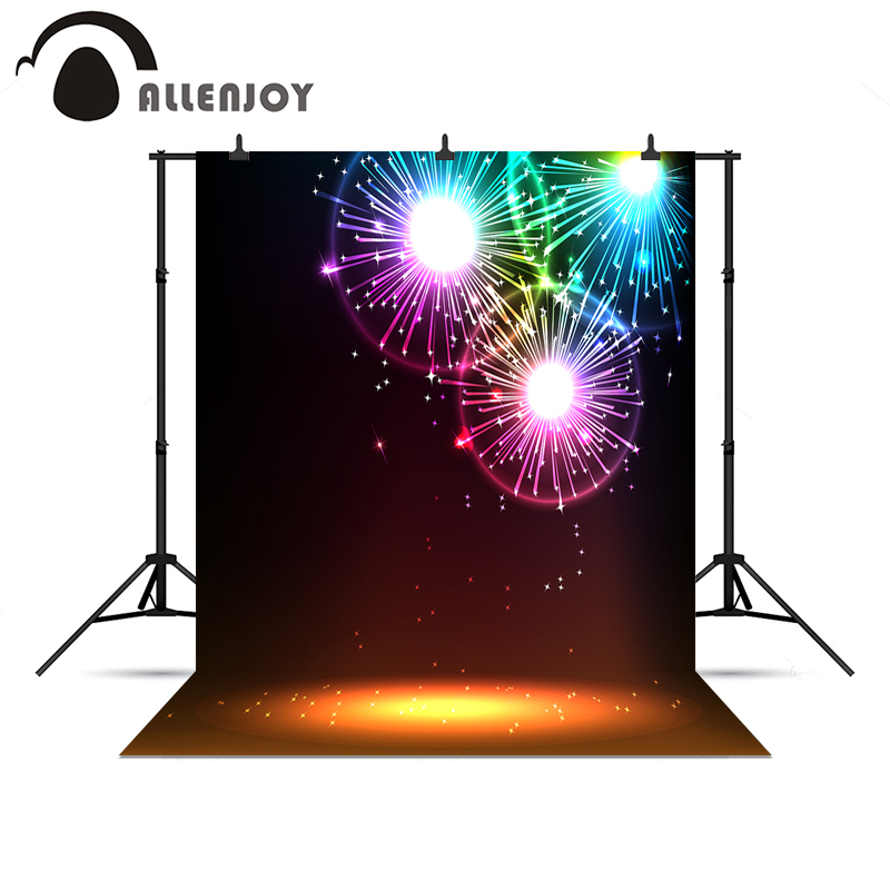 Allenjoy photographic photo background light spot fond happy New year fireworks vinyl photography backdrop for photo Studio
