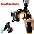 Acessórios Gopro Float Estabilizador Seção Pistola Gatilho Do Obturador Conjunto Flutuante alça para go pro hero 4 3 + 3 xiaomi yi câmera