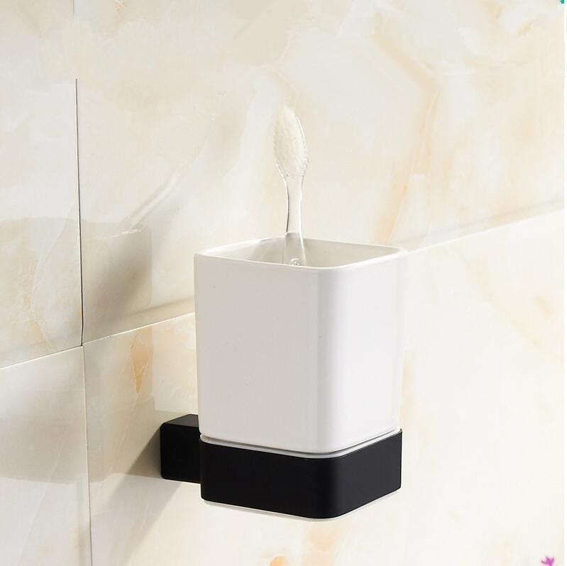 Bathroom AccessoriesVintage Black Finish Toothbrush - Bathroom cup holders wall mount for bathroom decor ideas