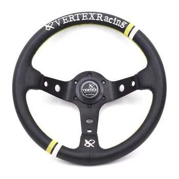 13 Inch 330 Mm Deep Dish Vertex Balap Kulit Mobil Drift Rally Tuning Olahraga Roda Kemudi