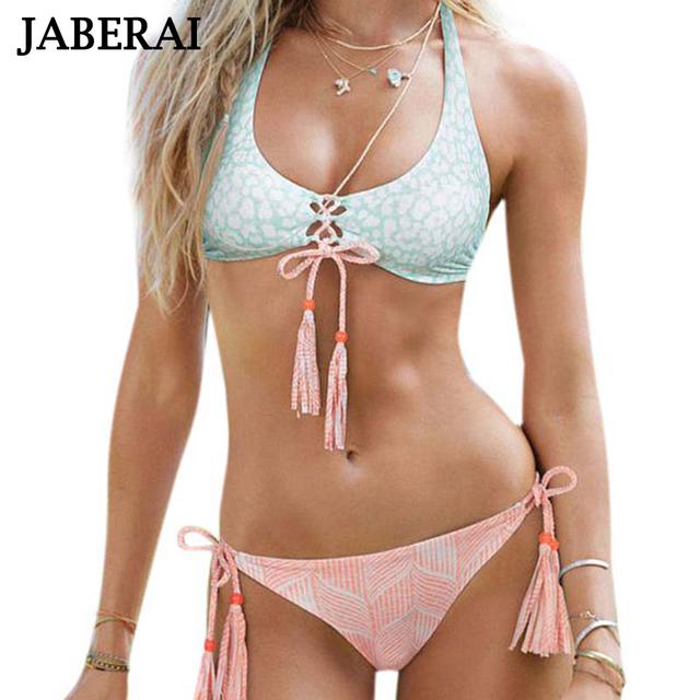 JABERAI 2017 Handmade Crochet Bikini Set Brazilian Summer Beach Wear Strappy Swimsuit Women Sexy Swimwear String Bathing Suit