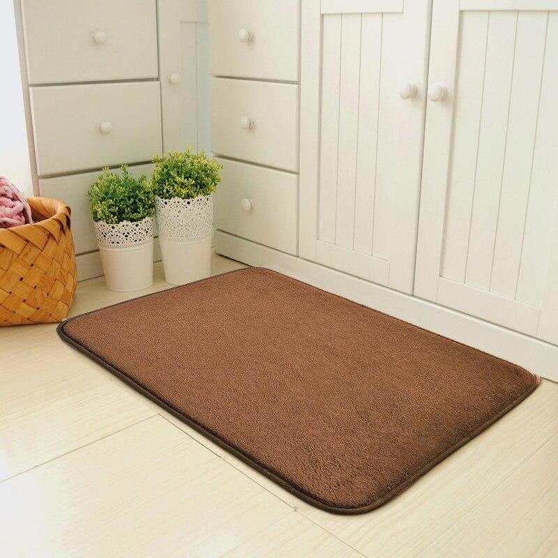 Bath Mat Water Absorption Bathroom Rug Grippers Bathroom Carpet Kitchen Door Floor Mat Badmat Anti Slip
