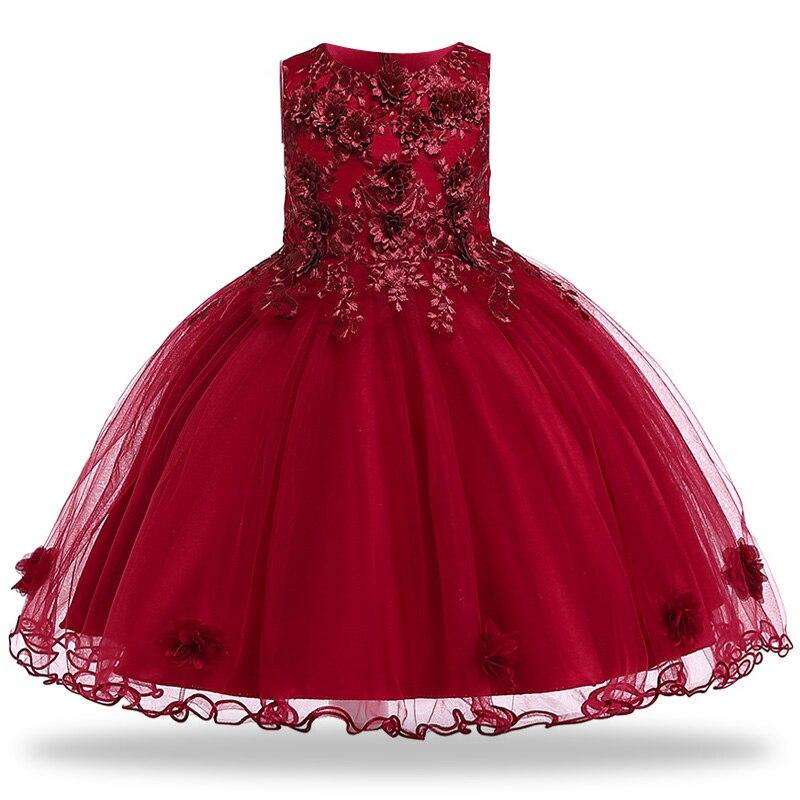 2019 Tutu ruha Vestido gyerekek ruhák lányoknak nyári hímzés - Gyermekruházat