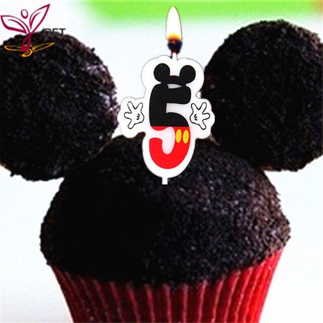 Hochzeitstag Partei Kuchen Zahlen 5 Kerze Mickey Mouse Theme Party