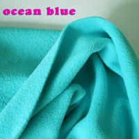 Ocean Blue Double Sided Polar Fleece Fabric Anti Pilling Hoodies Blankets Lining Fabric SOLD BY THE