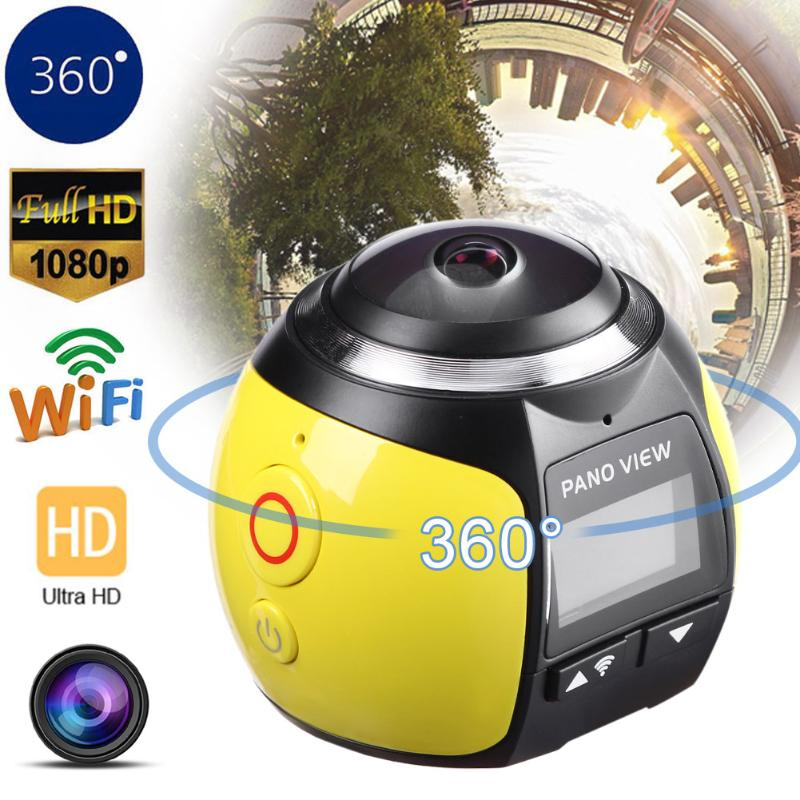 Mini 360 Degree Wifi 4K HD Ultra Panoramic Sport VR Action Camera Dash Driving Cam Waterproof DV Camcorders Outdoor Sport gizcam 30m underwater waterproof 360 degree panoramic video camera camcorder ultra hd with waterproof accessories