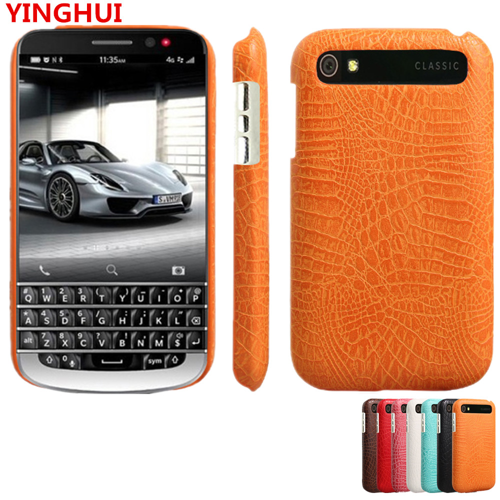 For BlackBerry Classic Q20 Case Luxury Crocodile pattern PU leather Case For BlackBerry Q20 fashion Phone Case Back Cover