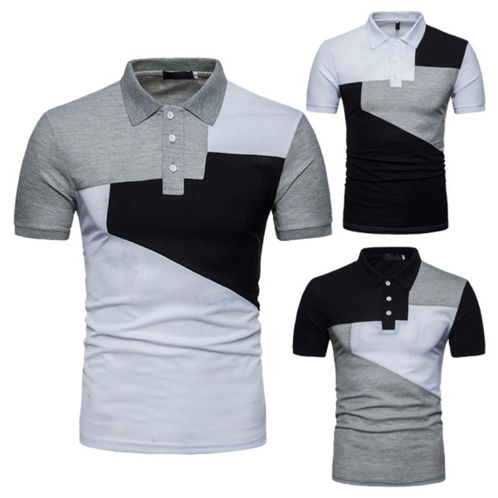 ZOGAA 2019 Fashion Men Shirt Patchwork Short Sleeve Shirt Men Clothing Trend Casual Slim Fit Hip-Hop Top Tees Shirts For Men