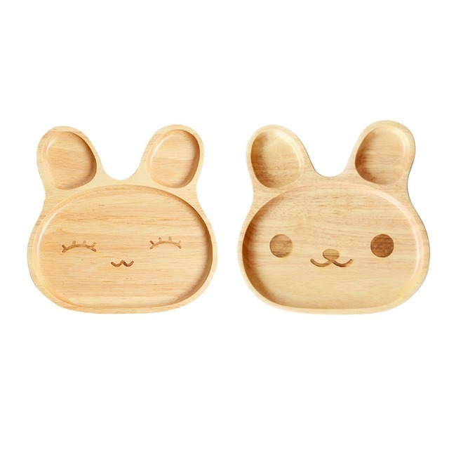 Rabbit Shaped Wooden Plate