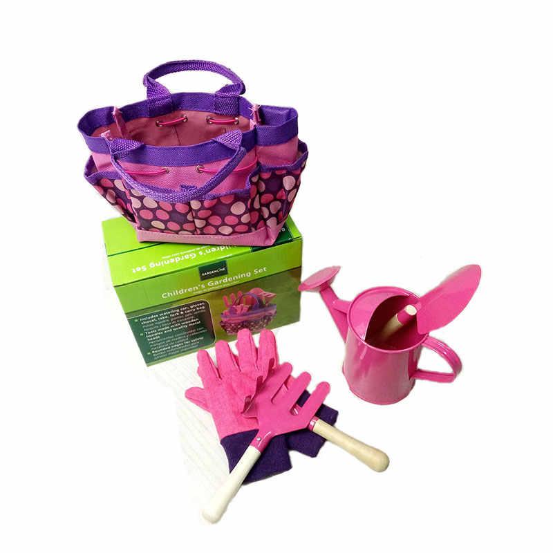 6 шт. Детский Набор садовых инструментов, игрушки для детей, прочная сумка, металлические инструменты, деревянная ручка, игрушка-песочница, пляжный гид для раннего обучения