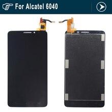 Para alcatel one touch idol x ot6040 6040 6040d lcd panel de visualización de la pantalla táctil de cristal digitalizador reemplazo asamblea