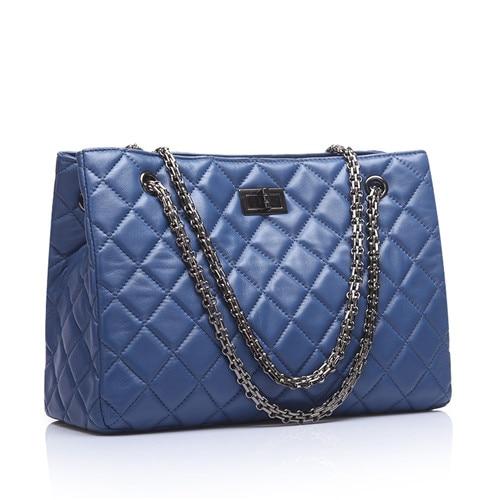2016 New fashion Genuine Leather Big women Messenger bags women Brands luxury Tote ladies handbag Chain shoulder bag