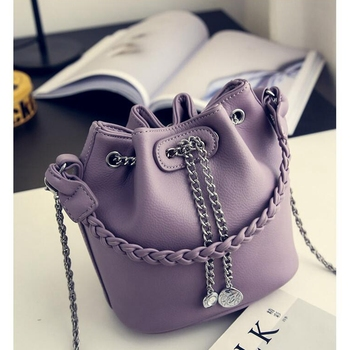 Women's PU Leather Bucket Bag  4