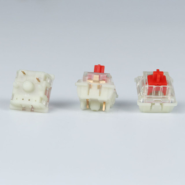 Gateron silent switch Black Red clear 5pin  transparent tops for mechaniacl keyboard Compatible with MX switch