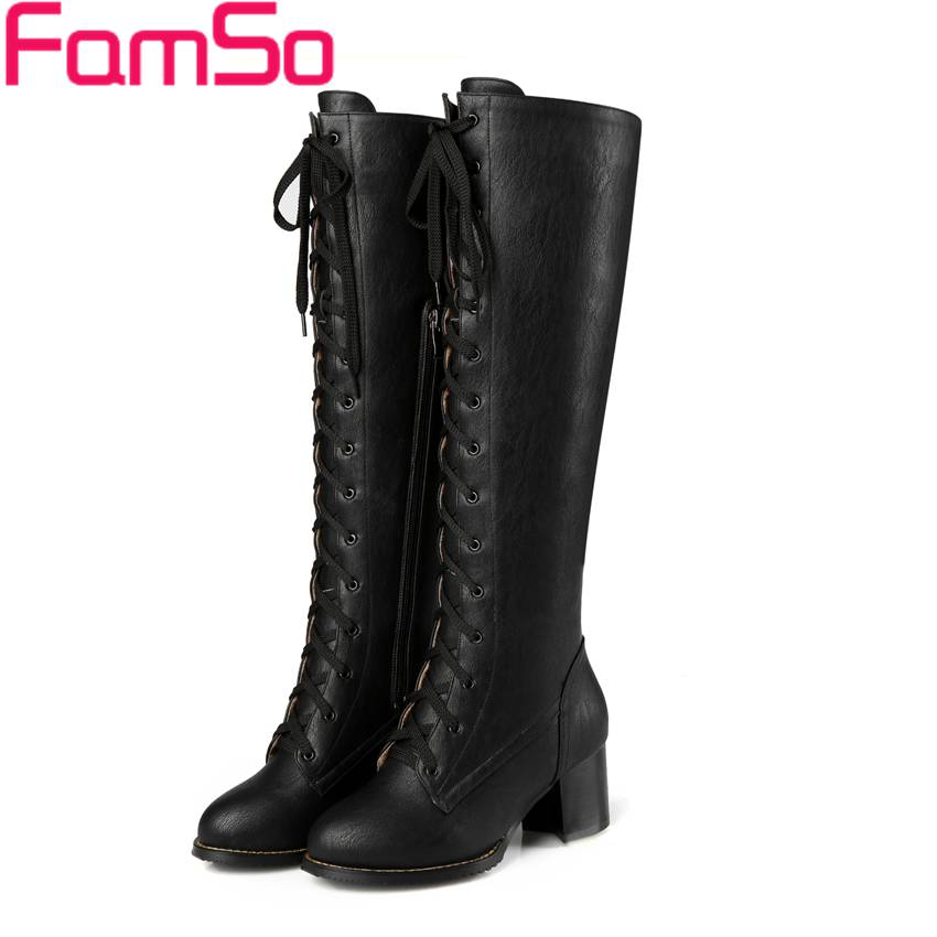 ФОТО Free shipping 2017 New Shoes Women's Boots Black High Heels Autumn Motorcycle Boots Winter Fashion Warm Snow Boots  ZWP2648
