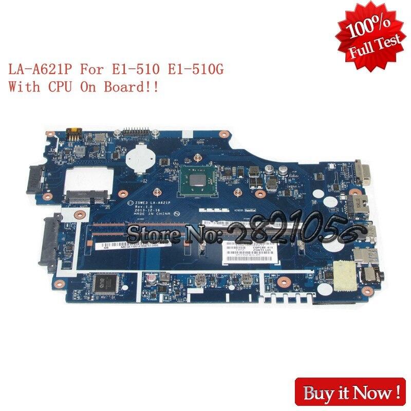 все цены на NOKOTION Laptop Motherboard Z5WE3 LA-A621P NBC3911001 NB.C3911.001 For acer aspire E1-510 E1-510G Mainboard With CPU On Board