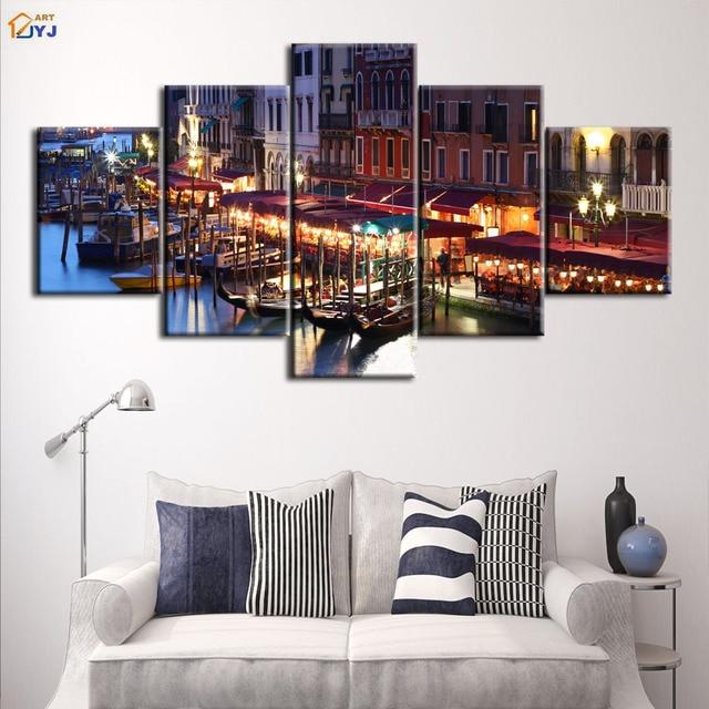 Unframed Imagem For Living Room Decor Spray De Veneza Barco A Vela Pintura  HD Impressão Pintura Part 97