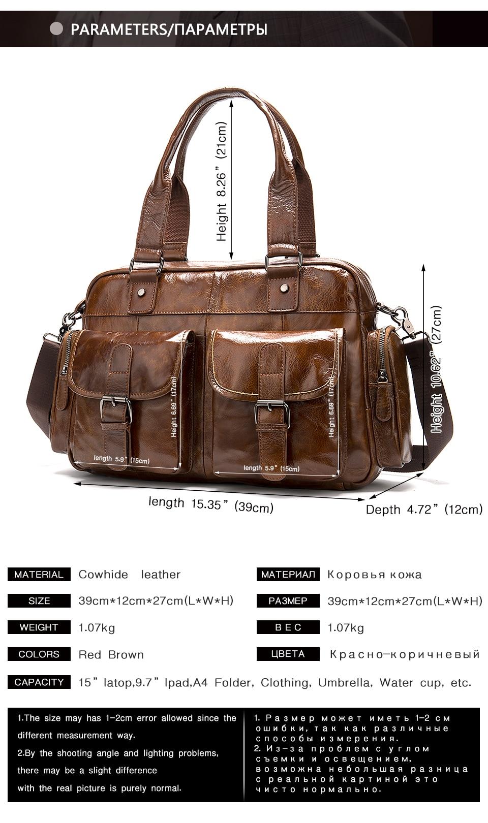 2 men\`s briefcase bag men\`s genuine leather bag mens briefcase messenger bags business laptop office bags for men handbag