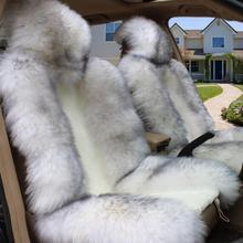 Car seat cushion winter pure wool cushion Australia fur one plush seat cover ladies winter warm car universele mat цены