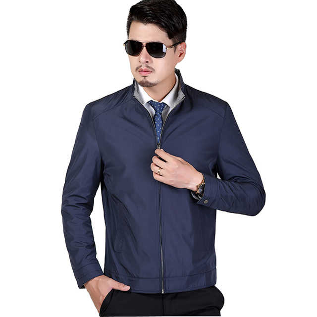 Casual Business Men Jacket 2017 Spring Overcoat Male Long Sleeve Coat Office Outwear Autumn Outdoors An
