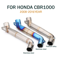 CBR1000RR Motorcycle Exhaust Pipe Muffler Escape Moto Stainless steel Middle Link Pipe For Honda cbr1000rr 2008 2016 Slip on