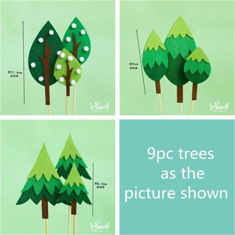 9pc felt trees set A