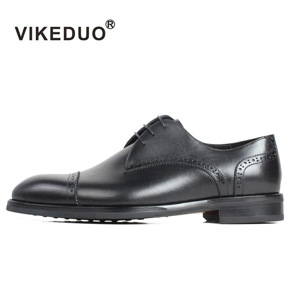 VIKEDUO Handmade Calf Leather Men's