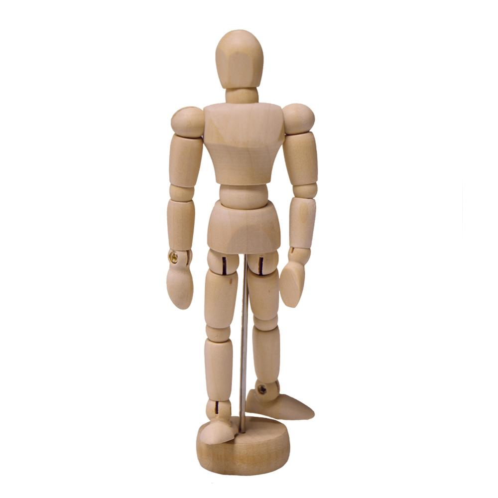 1Pc Artist Movable Limbs Male Wooden Figure Model Mannequin Art Class Sketching Wooden dolls Teaching equipment in Educational Equipment from Office School Supplies