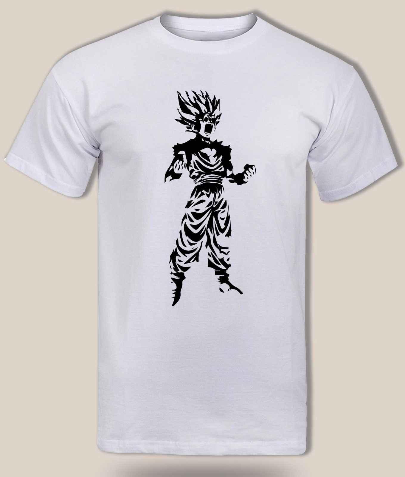DBZ бушует подростков Гохан Супер Саян 2 футболка, Гоку, аниме Драконий жемчуг Z Для мужчин Бесплатная доставка Harajuku топы Футболка