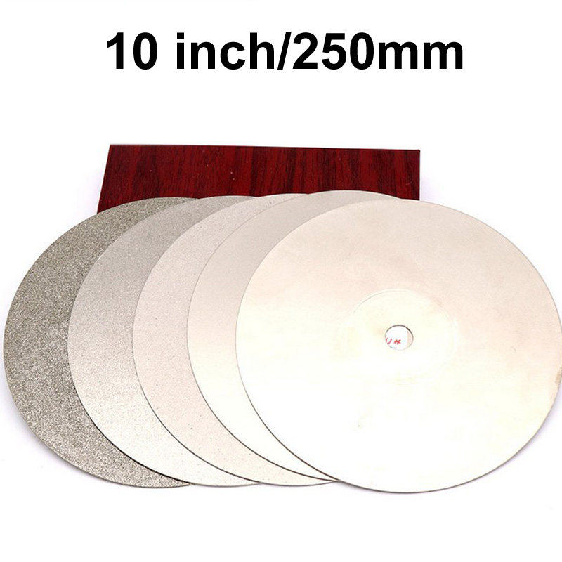 250x12.7x1mm 10'' inch Grit 80-2000 Diamond Grinding Disc Abrasive Wheel Coated Flat Lap Disc Jewelry Tools слипоны xti