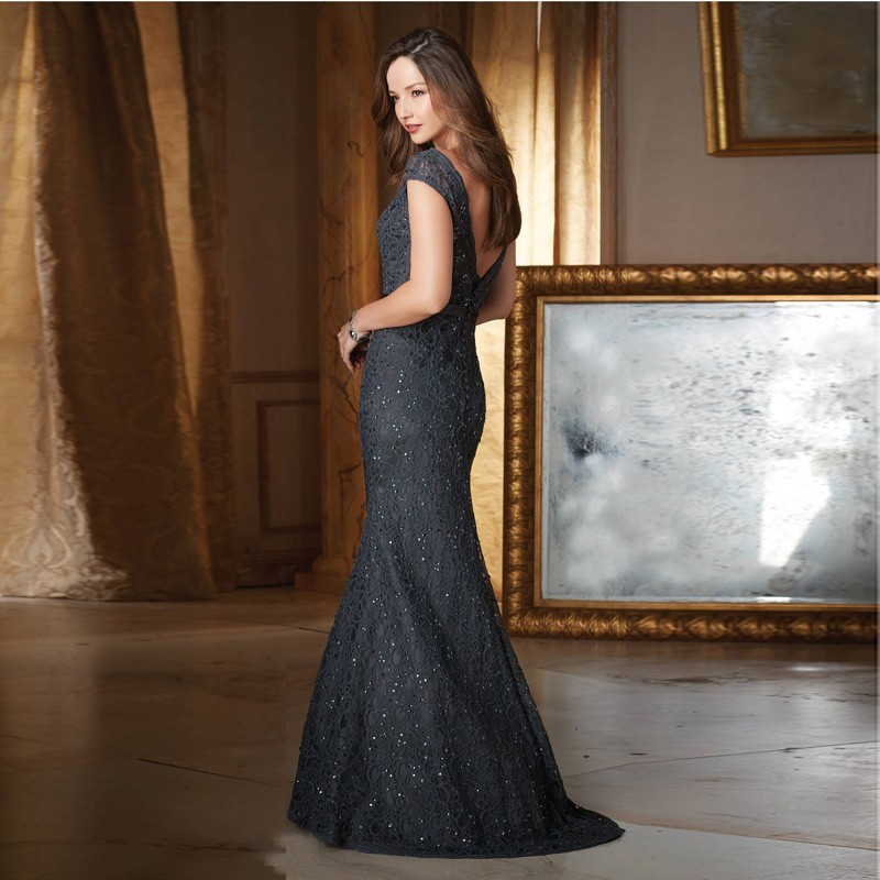 New-Arrival-Scoop-Neck-with-Cap-Sleeves-Purple-Gray-Sheath-Lace-Mother-of-the-Bride-Dresses (1)