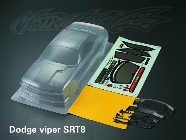 1 10 Scale 190mm Challenger Srt8 Dodge Viper Clear Pvc Body Onroad