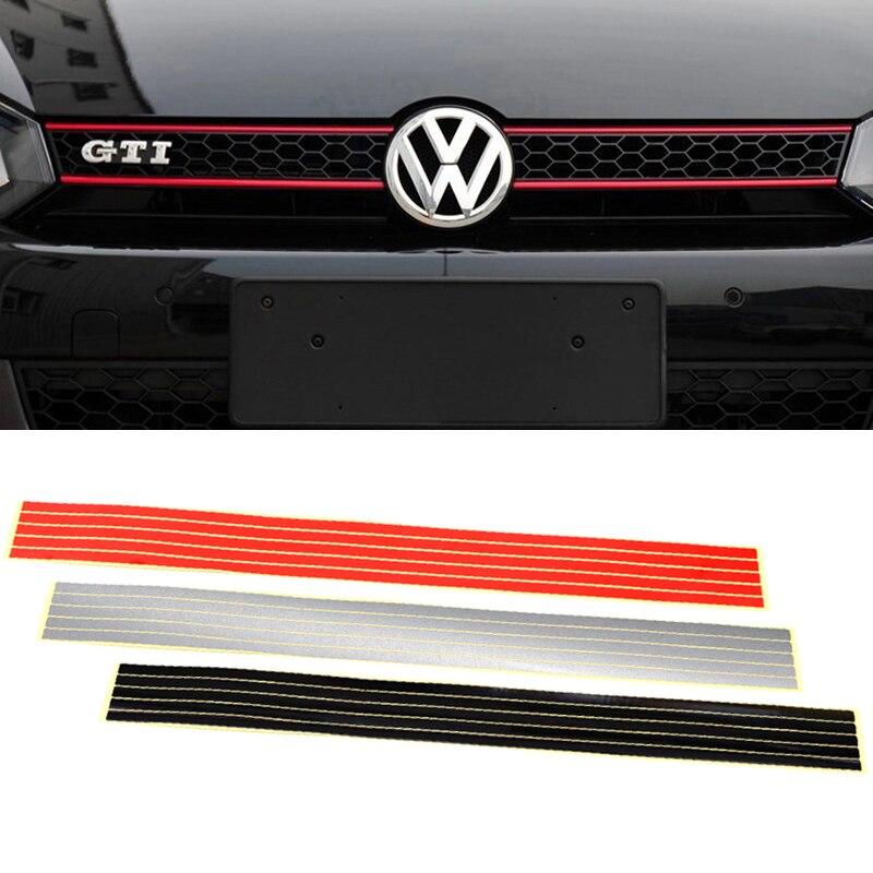 Для автомобильного стайлинга светоотражающий полоса Стикеры лента уплотнения подходит для Volkswagen Passat CC Гольф 7 6 MK6 Polo GTI VW Tiguan автомобильные ...