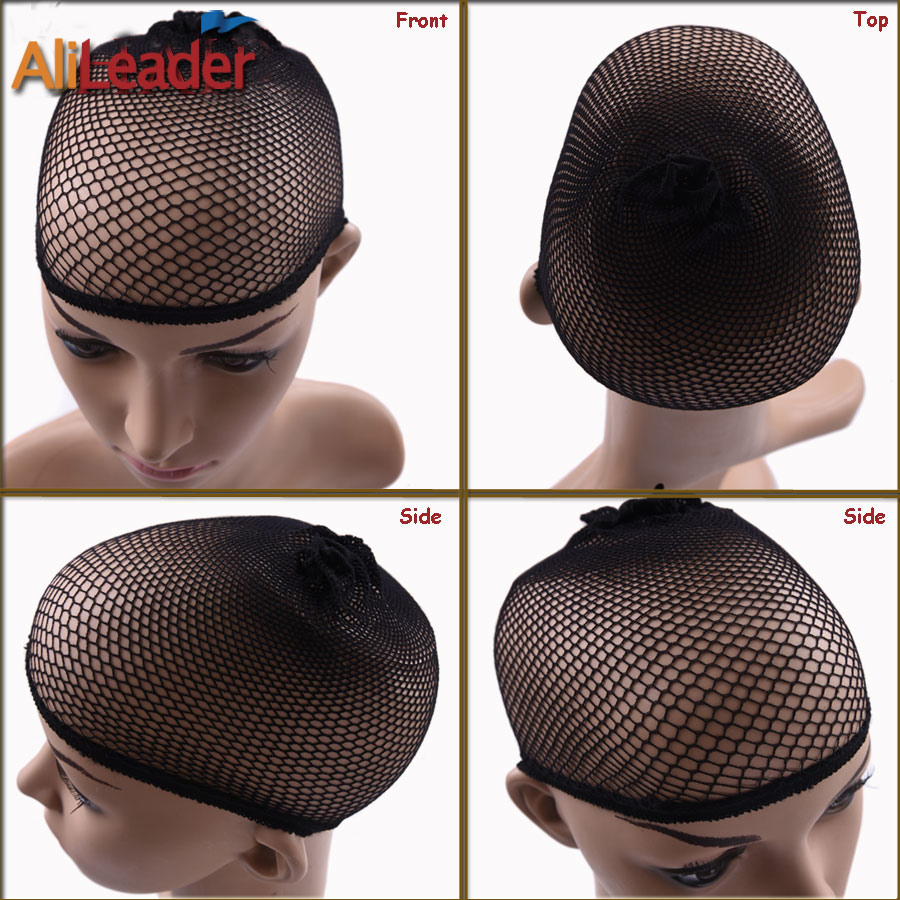 Alileader Beauty Wish Wig 1Pcs-5Pcs New Stretchable Elastic Hair Nets Snood Wig Cap Cool Mesh Cosplay Black Color FishHairnet 1