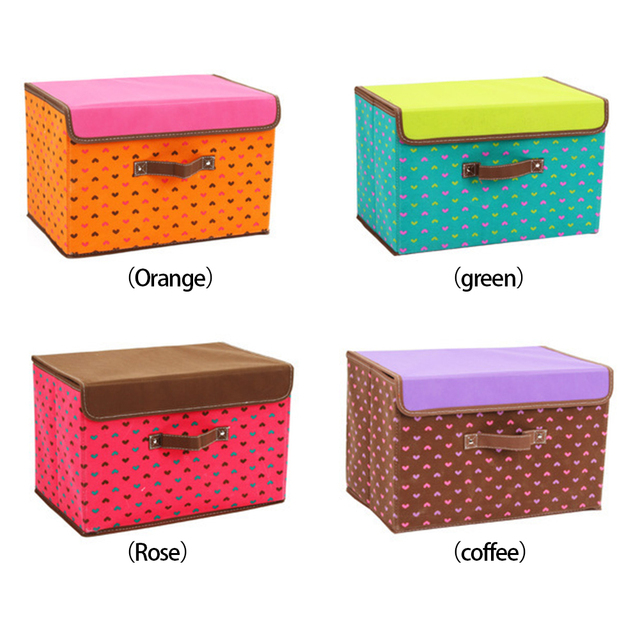 2017 NEW Portable Colorful Pattern Clothes Organizer Storage Box Clothing Pouch Holder Blanket Pillow Storage Box Large Size