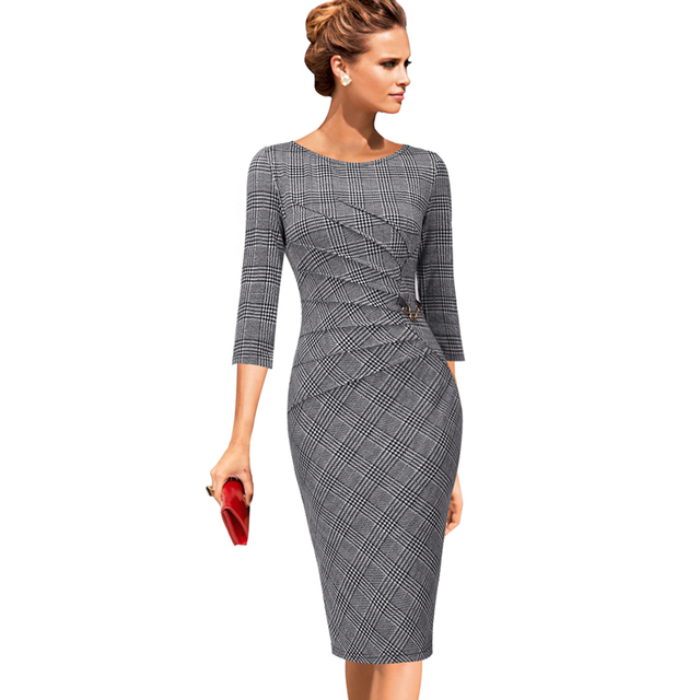 b3112b72 Vfemage Womens Celebrity Elegant Vintage Ruched Pinup Wear To Work Office Business  Casual Party Fitted Bodycon Pencil Dress 1041