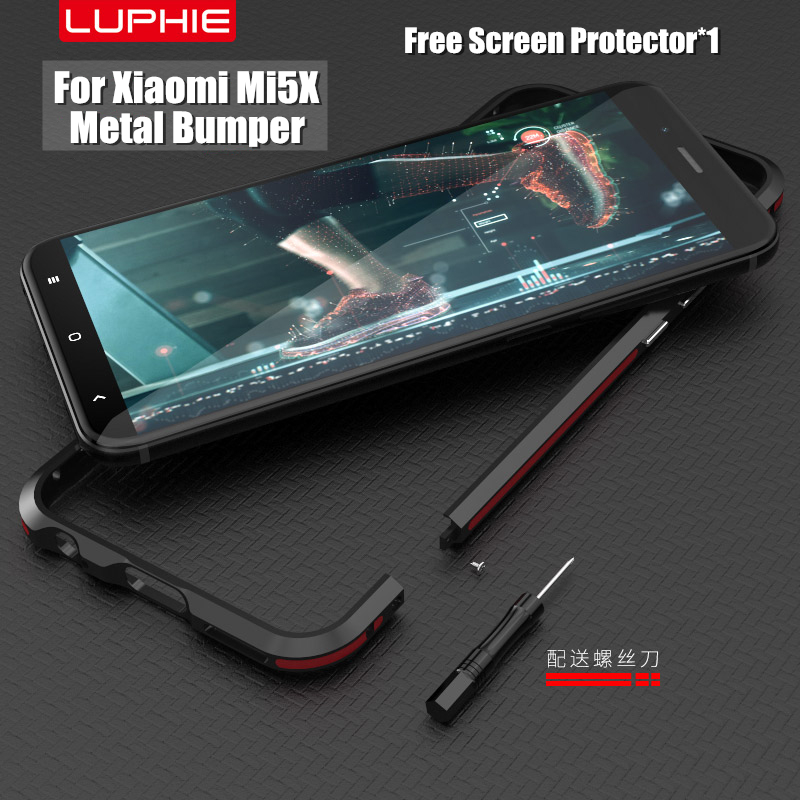xiaomi mi A1 bumper only aluminum metal frame border Highly oxidized dual color style original LUPHIE case for xiaomi mi5x cases