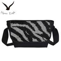 Hynes eagle 2017 zebra tiger stampa messenger borse per adolescenti fashion casual sacchetti di scuola college sacchetti multicolori bookbags