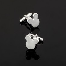 XK339 High quality copper material Mickey Mouse Cufflinks men business shirt accessories crazy promotion(China)