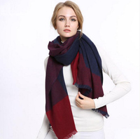 100%Cashmere Scarf Red Navy Women Extra Soft Warm Pashmina Natural Fabric High Quality Free Shipping
