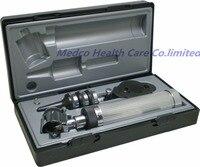 DHL Бесплатная доставка высококлассный Профессиональный Диагностический Отоскоп офтальмскоп комплект диагностический набор ENT набор ушной