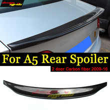 A5 Spoiler Tail Rear Trunk Wing Caracte-Style Carbon fiber For Audi A5Q 2-Door Coupe 09-16