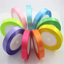 Many Silk Satin Ribbon 15mm 25 Meters 22M Wedding Wrap Paper Invitation Card Party Decorations Supplies