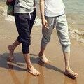 2016 men beach shorts Korean version slim fit sweatpants,mens harem short, solid cotton Calf-Length trousers Wave board shorts