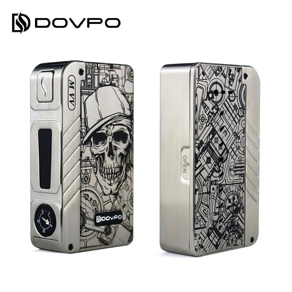 цена Original DOVPO M VV Box MOD with 4-LED Light Display & Adjustable Voltage 6.2-8.4V No 18650 Battery 280W Output Power E-cig Mod