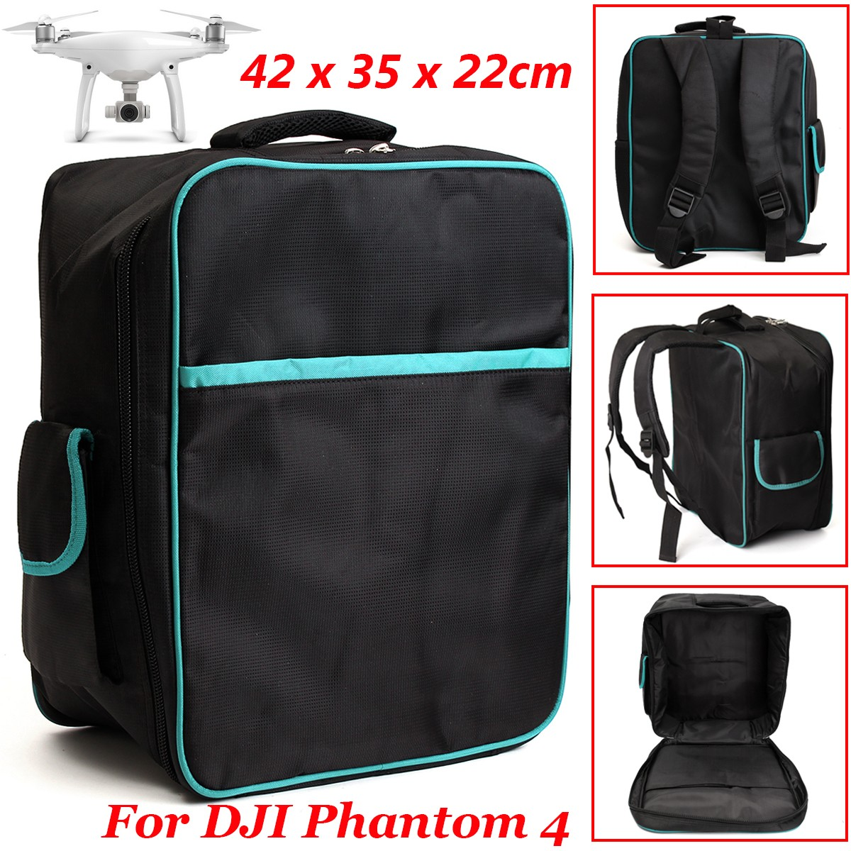New Backpack Shoulder Bag Carrying Case for DJI Phantom 4 Phantom 3 Quadcopter Drone Bags Waterproof Snow Cloth Fabric yi la 2017 new winter fur collar hooded down cotton coat fashion women s long coat cotton warm jacket parka plus size 3xl s869